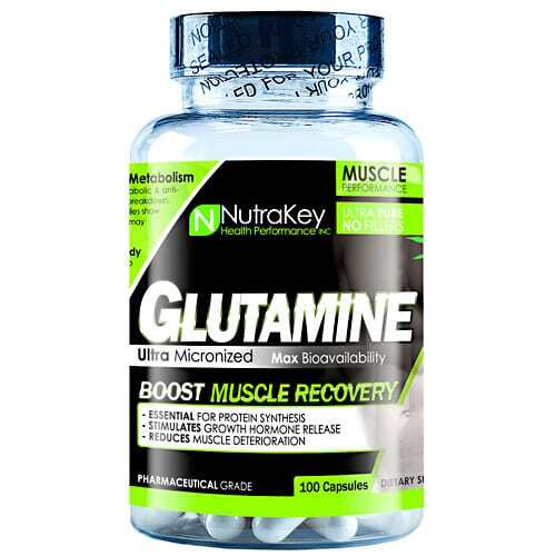 Nutrakey L-Glutamine - 100 Capsules
