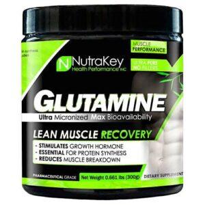 Nutrakey L-Glutamine - Unflavored - 300 Grams