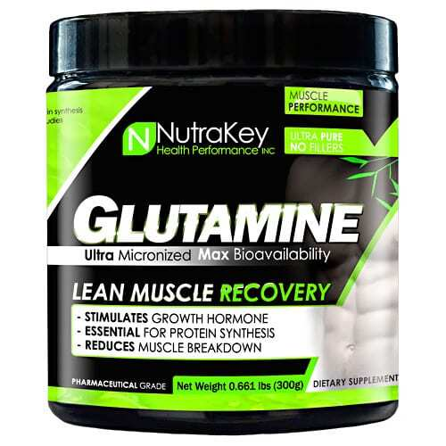 Nutrakey L-Glutamine - Unflavored - 300 Grams