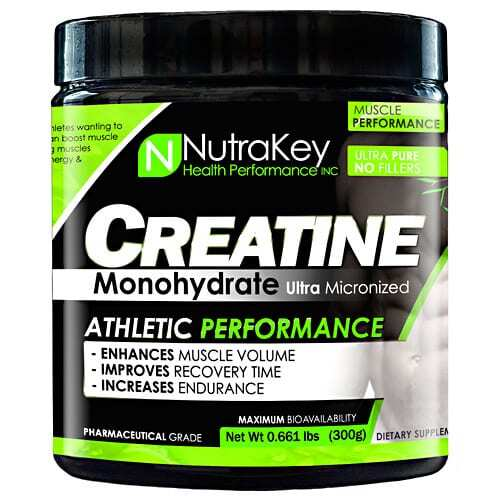 Nutrakey Creatine Monohydrate - Unflavored - 300 Grams