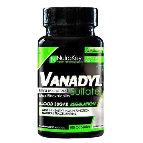 Nutrakey Vanadyl Sulfate - 100 Capsules