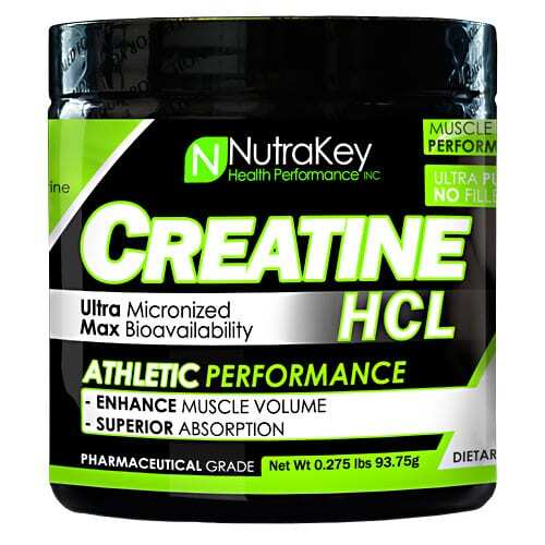 Nutrakey Creatine HCL - Unflavored - 125 Scoops