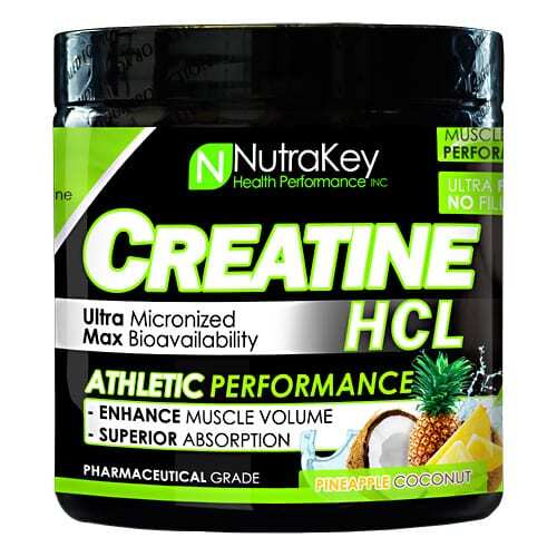 Nutrakey Creatine HCL - Pineapple Coconut - 125 Scoops