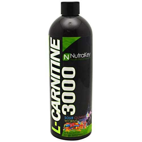 Nutrakey L-Carnitine 3000 - Sour Gummy Worms - 16 FL OZ