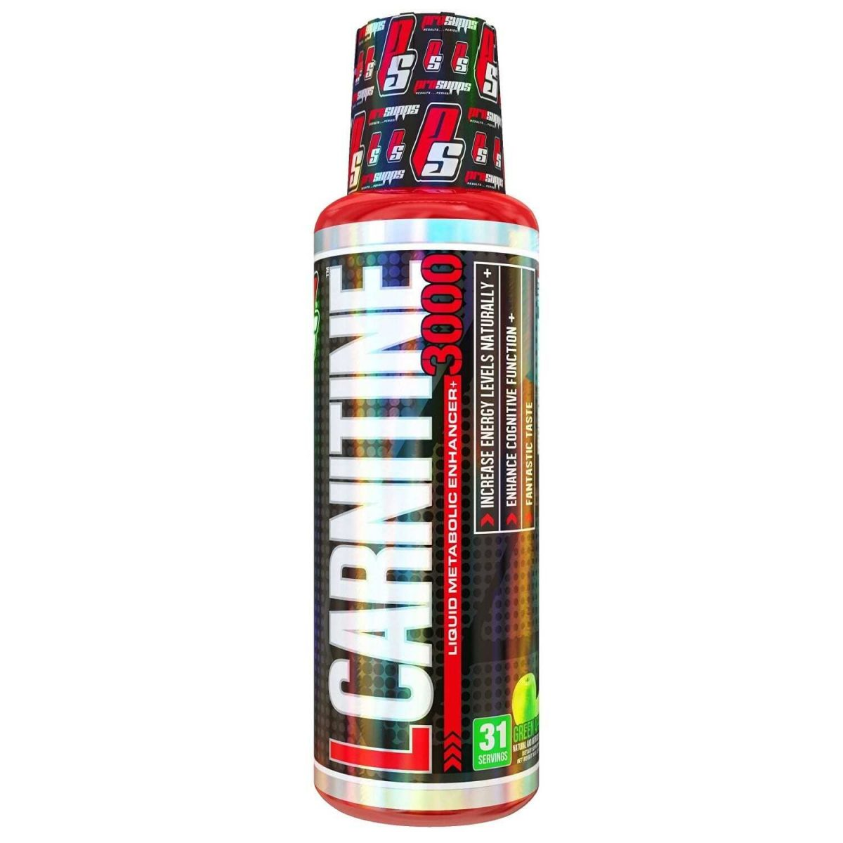 Pro Supps L-Carnitine 3000 - Green Apple - 16 fl oz (473 ml)
