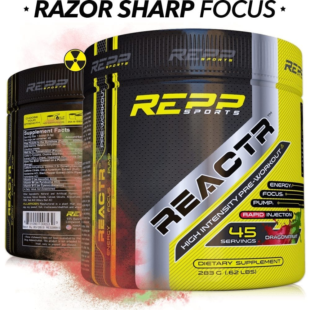 Repp Sports Reactr - Dragon Fruit - 45 Servings