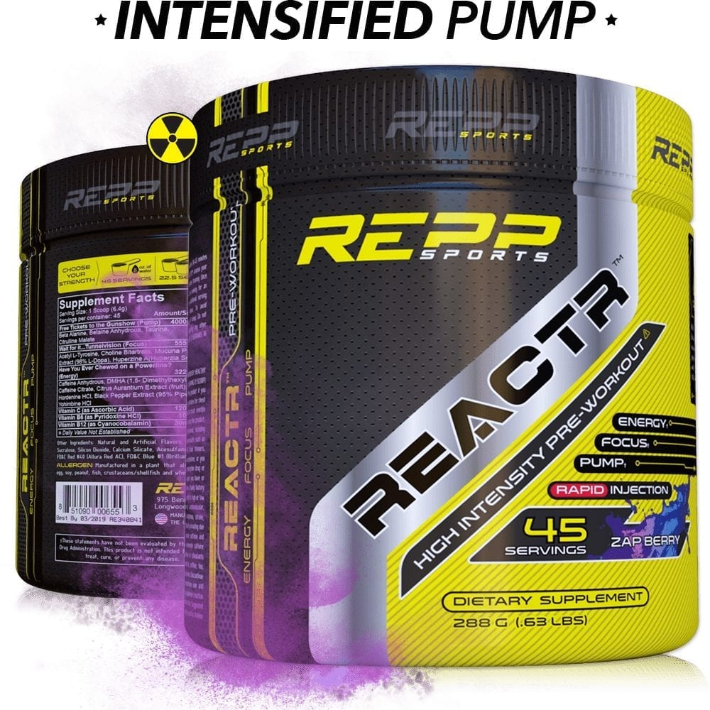 Repp Sports Reactr - Zap Berry - 45 Servings