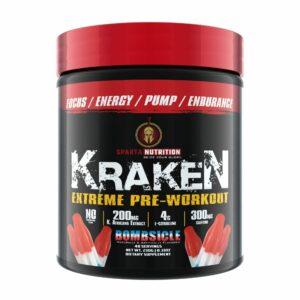 Sparta Nutrition Kraken Pre Workout - Bombsicle - 40 Servings