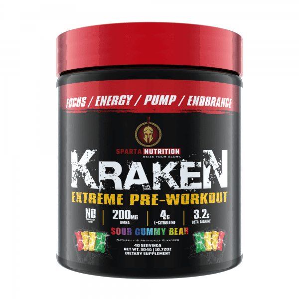 Sparta Nutrition Kraken Pre Workout - Sour Gummy Bear - 40 Servings