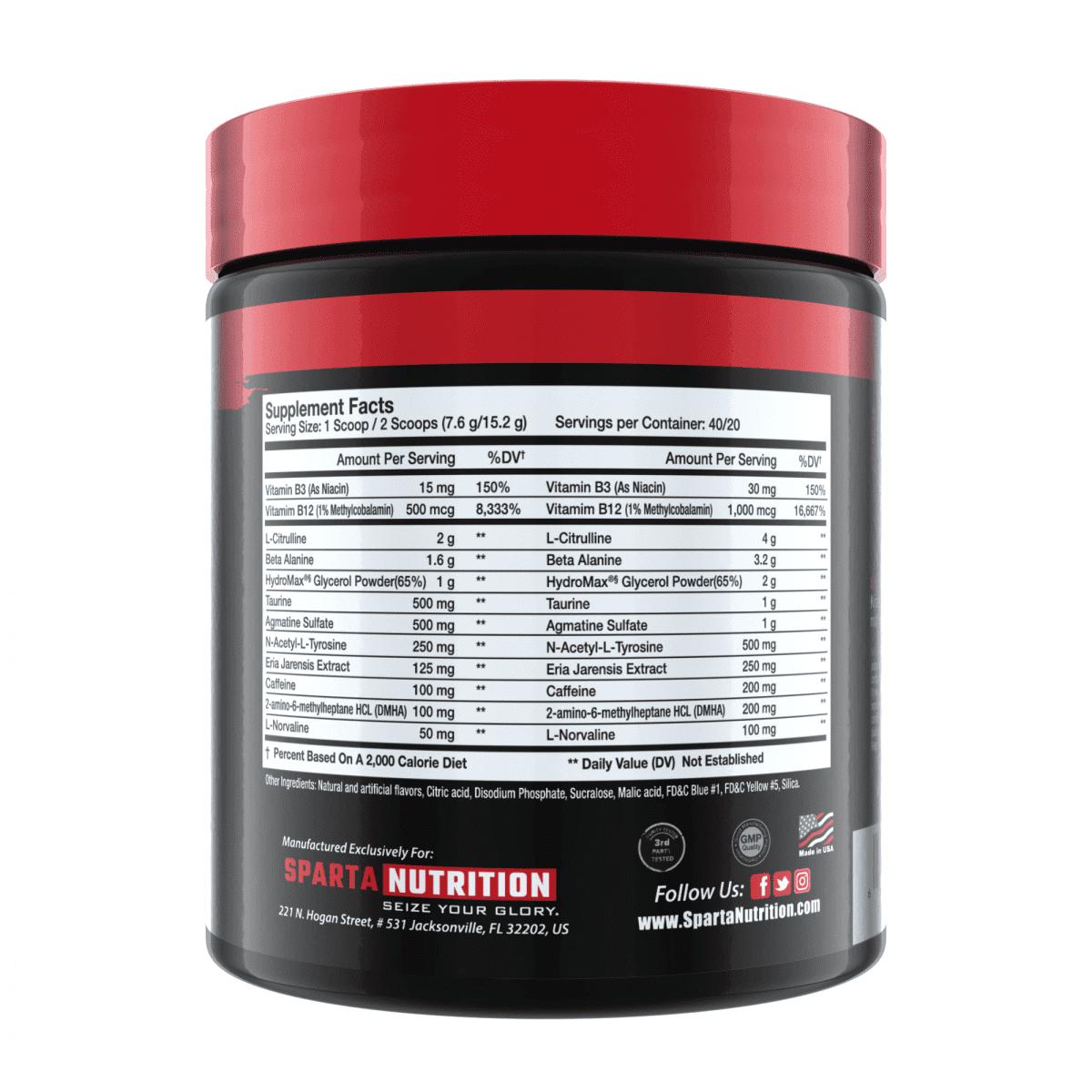 Sparta Nutrition Kraken Pre Workout - Sour Gummy Bear - 40 Servings-1271