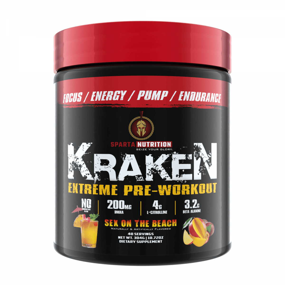 Sparta Nutrition Kraken Pre Workout - Sex on the Beach - 40 Servings