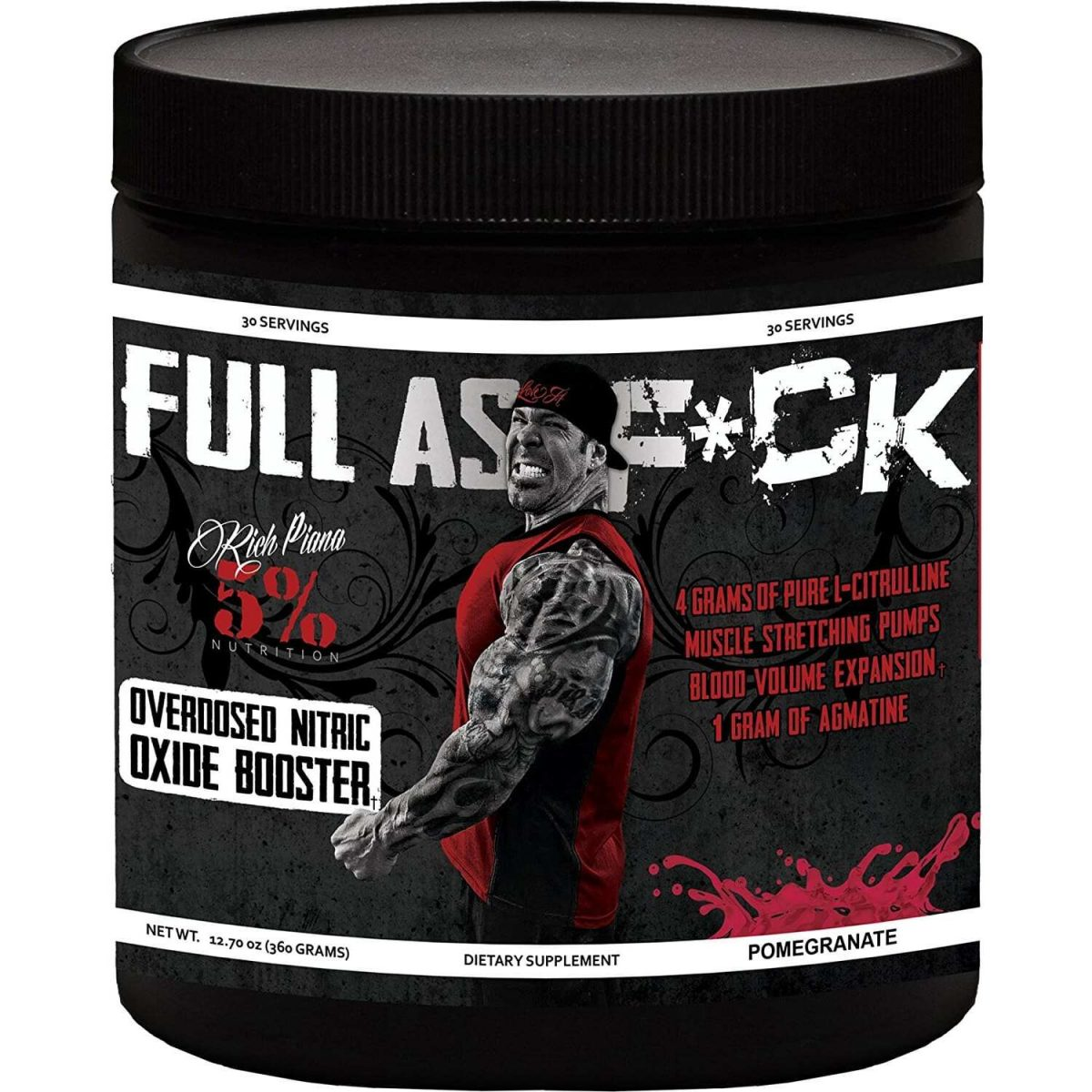 5% Nutrition Full As F*ck Nitric Oxide Booster - Pomegranate
