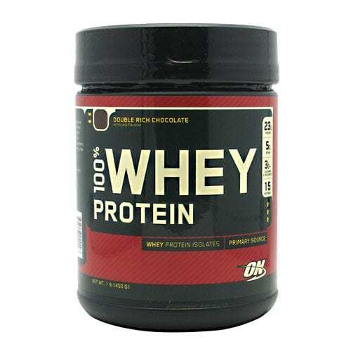 Optimum Nutrition 100% Whey Protein - Double Rich Chocolate - 1 lb (450 g)