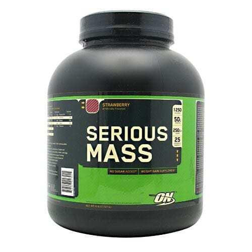 Optimum Nutrition Serious Mass - Strawberry - 6 lbs (2727 g)