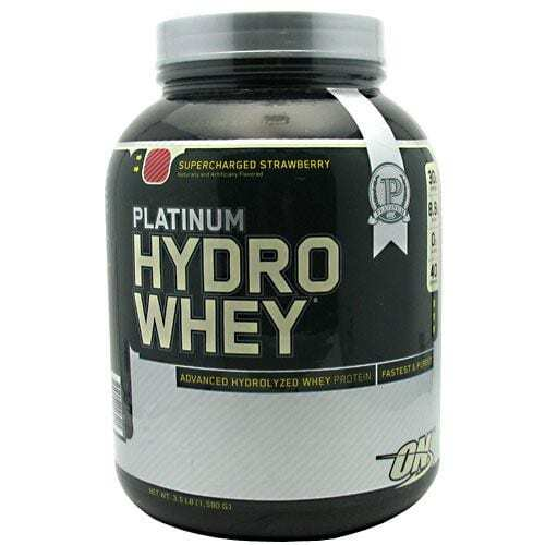 Optimum Nutrition Platinum Hydrowhey - Supercharged Strawberry - 3.5 lb (1,590 G)
