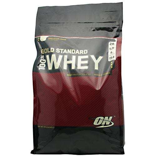 Optimum Nutrition Gold Standard 100% Whey - Vanilla Ice Cream - 10 lbs