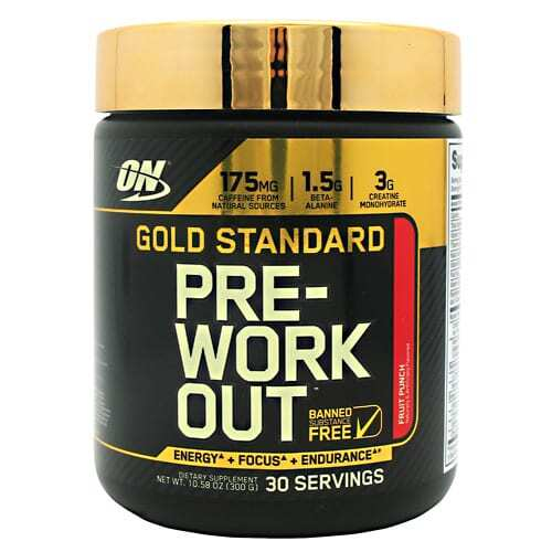 Optimum Nutrition Gold Standard Pre-Workout - Fruit Punch - 30 Servings