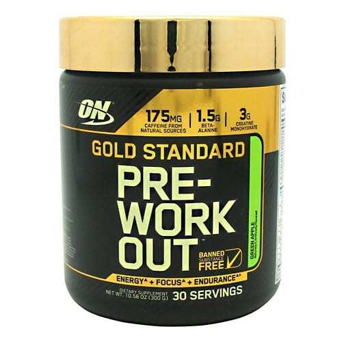 Optimum Nutrition Gold Standard Pre-Workout - Green Apple - 30 Servings
