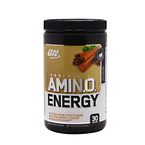 Optimum Nutrition Cafe Series Essential Amino Energy - Iced Chai Tea Latte - 30 Servings