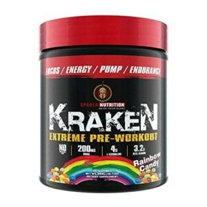 Sparta Nutrition Kraken Pre Workout - Rainbow Candy - 40 Servings-0