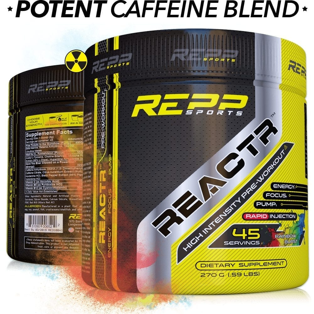 Repp Sports Reactr - Rainbow Burst - 45 Servings