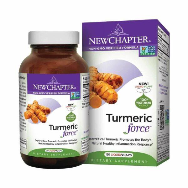 Turmeric Force - 120 Liquid Vcaps - New Chapter-0