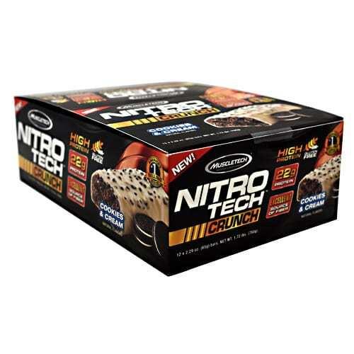 MuscleTech Nitro Tech Crunch - Cookies & Cream - 12 - 2.29 oz Bars