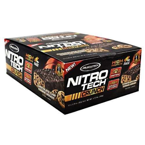 MuscleTech Nitro Tech Crunch - Chocolate Chip Cookie Dough - 12 - 2.29 oz Bars