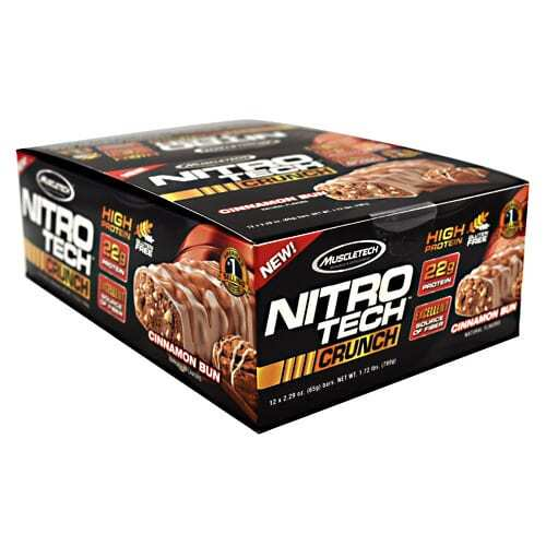 MuscleTech Nitro Tech Crunch - Cinnamon Bun - 12 - 2.29 oz Bars