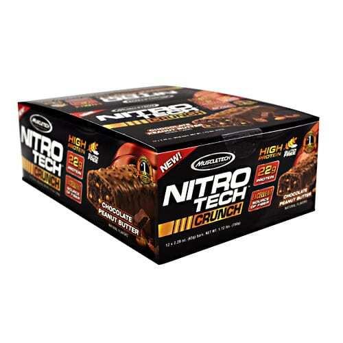 MuscleTech Nitro Tech Crunch - Chocolate Peanut Butter - 12 - 2.29 oz Bars