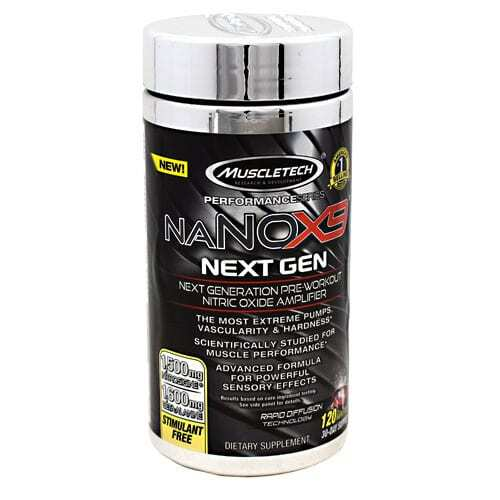 MuscleTech Performance Series naNOX9 Next Gen - 120 Rapid Caps
