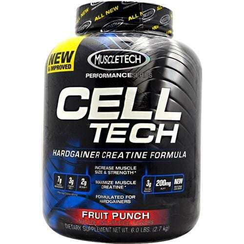 MuscleTech Performance Series Cell-Tech - Fruit Punch - 6.0 lbs (2.7 kg)