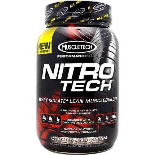 MuscleTech Performance Series Nitro-Tech - Cookies and Cream - 2 lbs (907g)