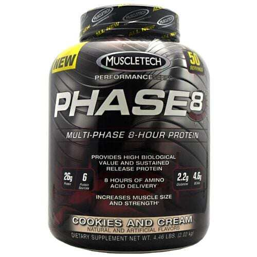 MuscleTech Performance Series Phase 8 - Cookies and Cream - 4 lb