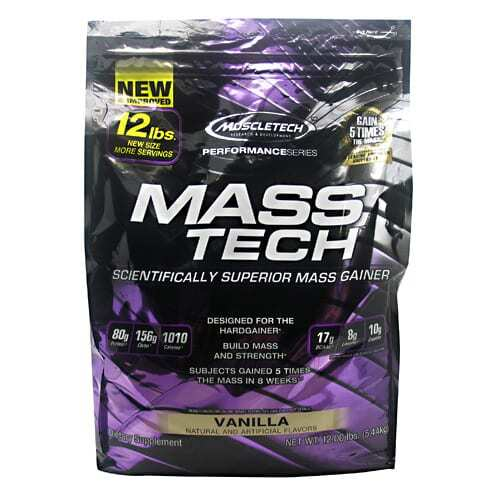MuscleTech Performance Series Mass Tech - Vanilla - 12 lbs