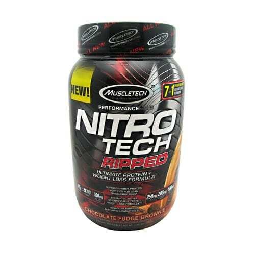 MuscleTech Performance Series Nitro Tech Ripped - Chocolate Fudge Brownie - 2 lbs