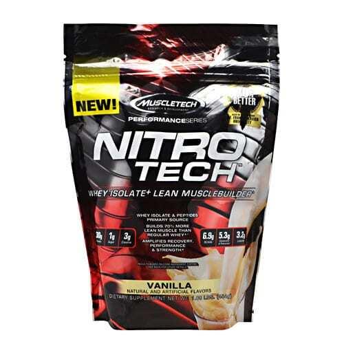 MuscleTech Performance Series Nitro-Tech - Vanilla - 1 lbs (454g)
