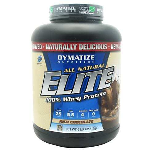 Dymatize All Natural Elite Whey Protein Isolate - Rich Chocolate - 5 lbs (2312g)