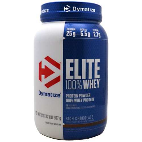 Dymatize Elite 100% Whey Protein - Rich Chocolate - 2 lbs (907g)