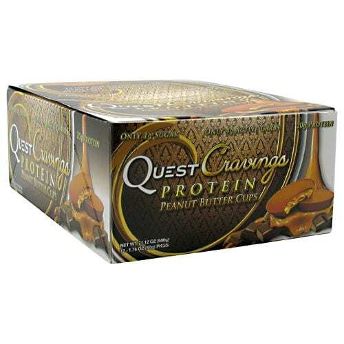 Quest Nutrition Quest Cravings - Peanut Butter Cups - 12 Packs - 1.76 oz (50g) each