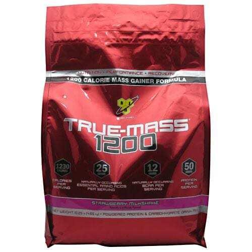 BSN True Mass 1200 - Strawberry Milkshake - 10.25 lbs. (4.71 kg)