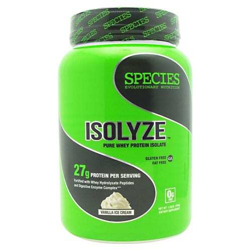 Species Nutrition Isolyze - Vanilla Ice Cream - 22 Servings