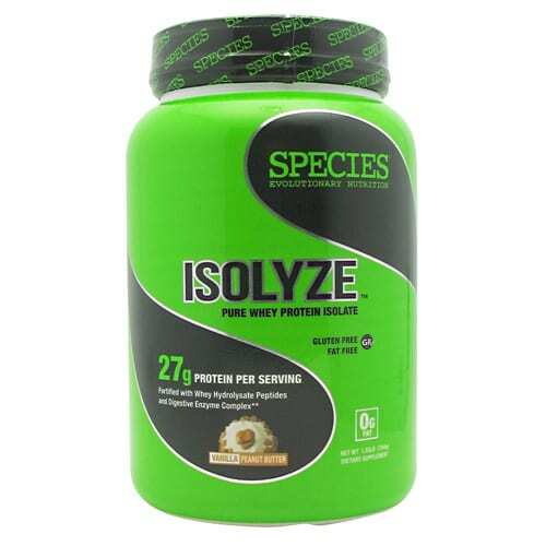 Species Nutrition Isolyze - Vanilla Peanut Butter - 22 Servings