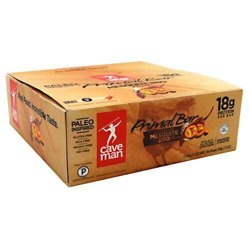 Caveman Foods Primal Bar - Mesquite BBQ - 12 Bars