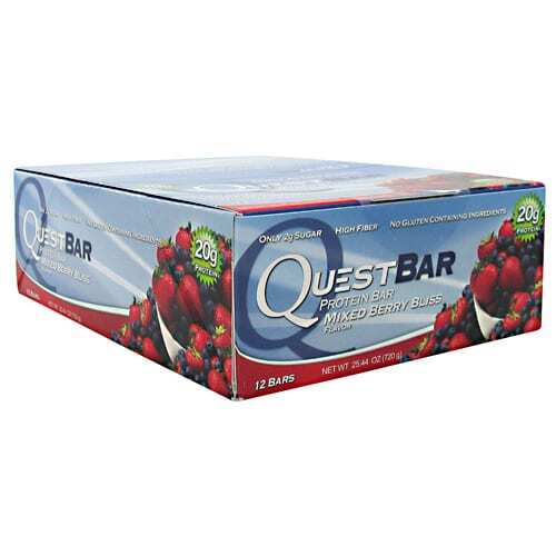 Quest Nutrition Quest Protein Bar - Mixed Berry Bliss - 12-2.12 oz (60g) Bars