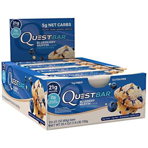 Quest Nutrition Quest Protein Bar - Blueberry Muffin - 12 - 2.12oz (60g) Bars
