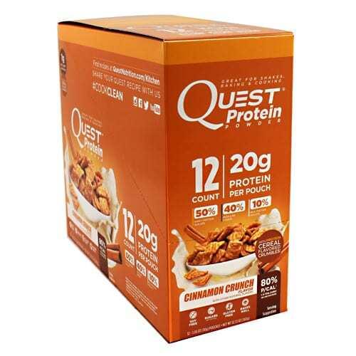 Quest Nutrition Quest Protein Powder - Cinnamon Crunch - 12 - 1.06 oz Pouches