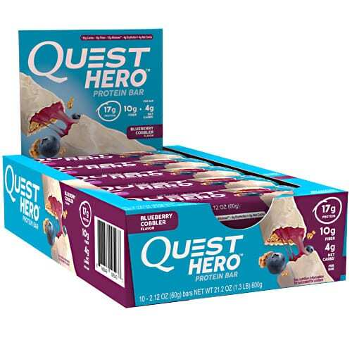 Quest Nutrition Hero Bar - Blueberry Cobbler - 10 - 2.12 oz Bars