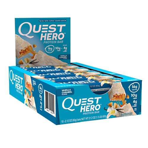 Quest Nutrition Hero Bar - Vanilla Caramel - 10 - 2.12 oz Bars