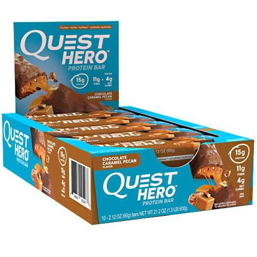 Quest Nutrition Hero Bar - Chocolate Caramel Pecan - 10 - 2.12 oz Bars